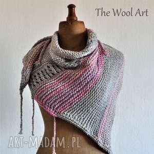 Asymetryczna chusta chustki i apaszki the wool art chusta