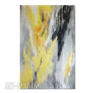 lemonade, abstrakcja, nowoczesny obraz ręcznie malowany, obraz, abstrakcja