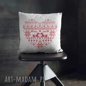 ręcznie zrobione prezent świąteczny poduszka świąteczna folkowa