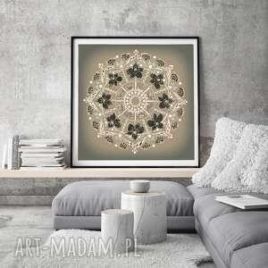 mandala 50x50, plakat, sztuka, obraz, mandala, etno, folk