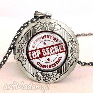 top secret - sekretnik z łańcuszkiem - naszyjnik, prezent