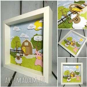 metryczka - farma mcdonalda - metryczka, owca, świnka, urodziny, narodziny, prezent