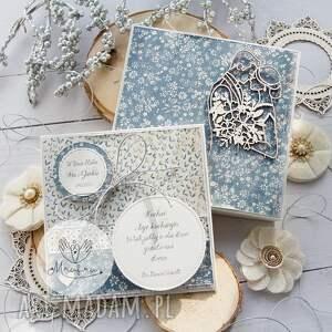 ręcznie wykonane scrapbooking kartki piękna kartka w pudełku z okazji ślubu
