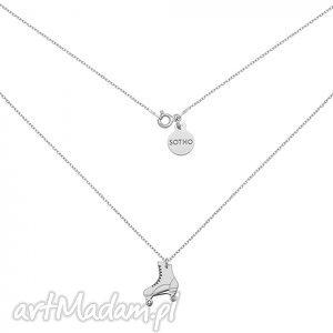 srebrny naszyjnik z wrotką - zawieszka, srebro, rolka, modny