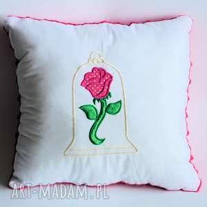 Poduszka - Róża z Piękna i Bestia , poduszka, bajka, piękna, bestia, róża