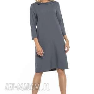 sukienki elegancka sukienka z kołnierzem w stylu jackie kennedy, t245, brudny