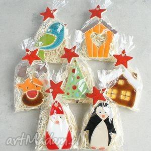 zestaw upominków świątecznych, zawieszki, renifer, choinka, upominek, gwiazdka