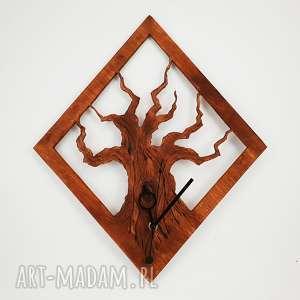 Drewniany zegar ścienny Drzewo , drzewo, natura, last, etno, folk, drewniany