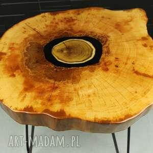stolik kawowy olcha i akacja żywica, loft, design, wood, rękodzieło