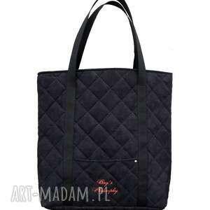 ręczne wykonanie torebki tote xxl sir elton - /paint it black