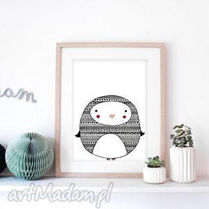 Pingwinek a3 malgorzata domanska pingwin, pingwinek, obrazek,