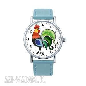ludowelove zegarek z grafiką kogut, folk, etniczne, prezent, ludowe, ludowy