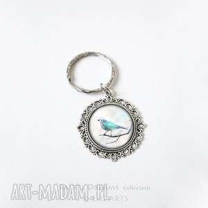 breloki breloczek - turkusowy ptaszek, brelok, breloczek, ptak, unikatowy
