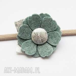 Opaska do włosów kwiatek morski kolekcja Roma, opaska, filc, dladziewczynki