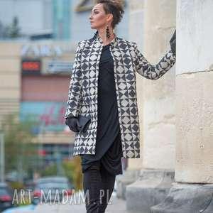 jesienny, elegancki płaszcz, boho płaszcz, klasyczny, lniany, pudełkowy