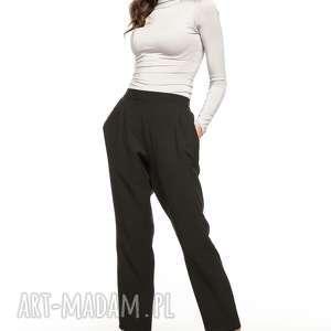 Spodnie cygaretki z kieszeniami, t271, czarny tessita spodnie
