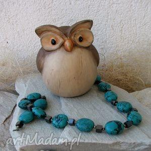 turkusowe kamienie naszyjnik - naszyjnik, korale, kamienie, biżuteria
