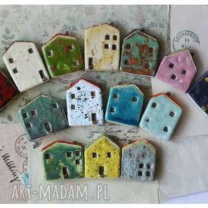 ręcznie wykonane ceramika zestaw 14 domków ceramicznych