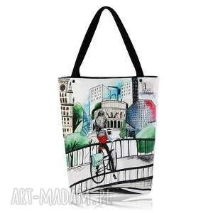 na ramię torebka shopperka 1312 belarus, grafika, zakupy, duża, shopping, pojemna