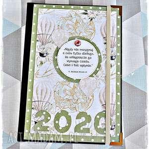 scrapbooking albumy kalendarz 2020 pastelowe balony, kalendarz, kalendarze