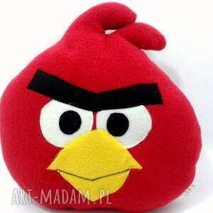 Czerwony Angry, anry, birs, przytulanka, zabawka, poduszka