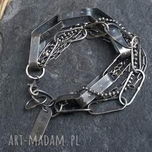 bransoletka srebrna, srebro, srebro oksydowane, prezent