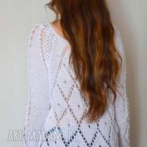 handmade swetry ażurowy sweterek - zamówienie. Renata