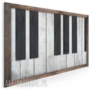 obraz na płótnie - klawisze drewno shabby chic 120x80 cm 81901