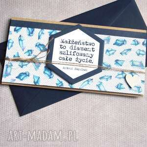kartka - kopertówka :: diamentowa, ślub