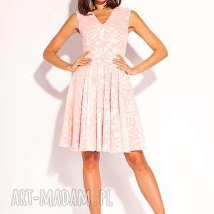 sukienki sukienka korina, wesele, pudrowa, morelowa, poprawiny, chrzest, letnia