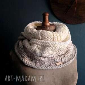 Ciepły komin na szyję kominy the wool art naszyję, wełniany