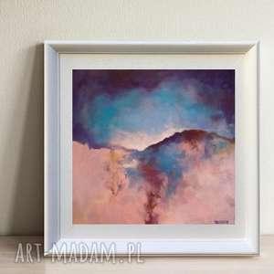 Obraz na płótnie - ABSTRAKCJA II 40/40 cm, abstrakcja, akryl, obraz