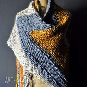 handmade szaliki duża ciepła chusta