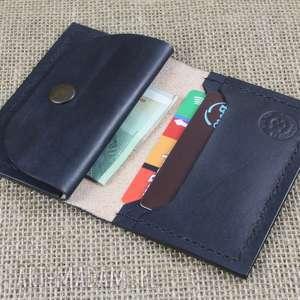 portfel skórzany z kieszonką na monety, portfel, skóra, prezent, torba
