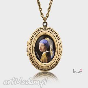 Sekretnik owalny DZIEWCZYNA Z PERŁĄ, vermeer, obraz, kobieta, malarstwo, reprodukcja