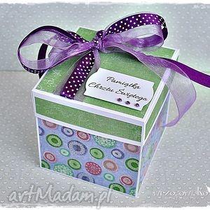box personalizowany na chrzest dla małej księżniczki - exploding, box