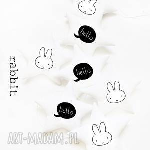 hand-made pokoik dziecka white rabbit - girlanda królik