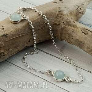 delikatna bransoletka ze srebra łańcuszkowa, srebrna