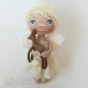 dekoracje anioŁek dekoracja ścienna - figurka tekstylna ręcznie szyta i malowana