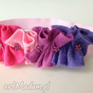 handmade dla dziecka opaska niemowlęca - falbanka