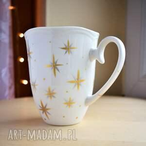 Kubek ręcznie malowany Gwiazdki 350 ml, w-gwiazdki, gwiazdy, gwieździsty, dla-niej