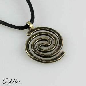 wisiorki spiralny - mosiężny wisiorek 210305-04, wisiorek, prosty