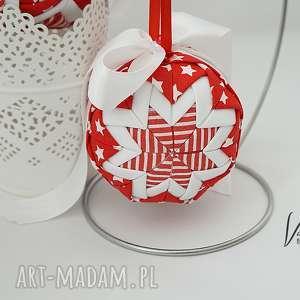 bawełniana bombka - ozdoba świąteczna boże narodzenie
