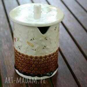 ceramika pojemnik na miód, artystyczna, prezent, miód