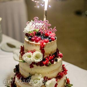 ręcznie zrobione ślub spersonalizowany topper na tort weselny druk 3d