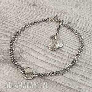 bransoletka ze srebra surowa pastylka, srebra
