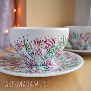 handmade ceramika filiżanki dla pary prezent ślub rocznica