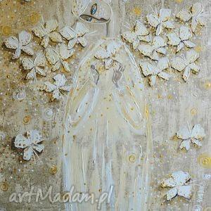 Życie człowieka ma kolor jego wyobrażni, anioł, anioły, motyl, 4mara