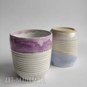 handmade ceramika dwie szklanki ceramiczne