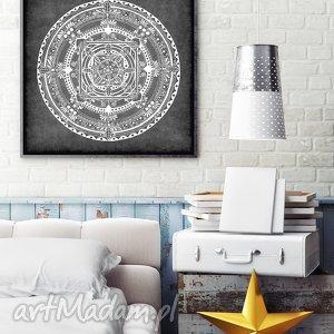 mandala 50x50cm, grafika, plakat, mandala, etno, unikalny prezent